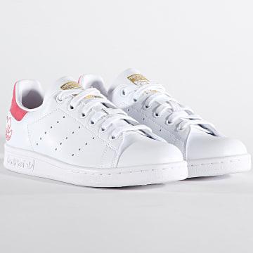 Adidas Originals - Baskets Femme Stan Smith G55666 Cloud White Hazy Rose Gold Metallic