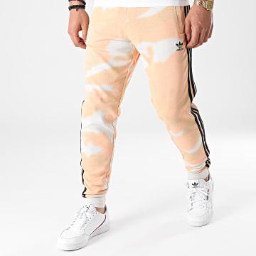 adidas - Pantalon Jogging A Bandes Camo AOP GN1895 Rose Blanc Beige Camouflage