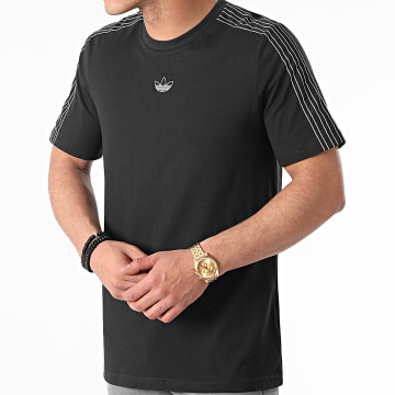Adidas Originals - Tee Shirt A Bandes 3 Stripes GN2417 Noir