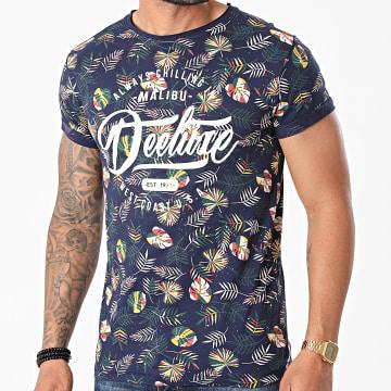 Deeluxe - Tee Shirt Freshy Bleu Marine Floral