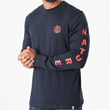 Element - Tee Shirt Manches Longues Argos Bleu Marine
