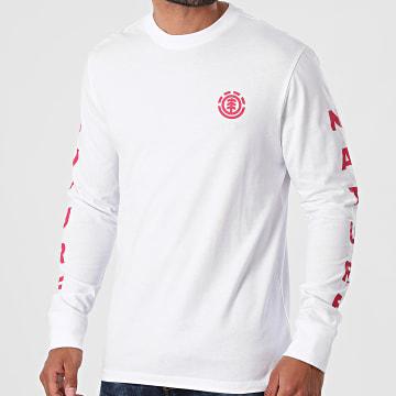 Element - Tee Shirt Manches Longues Argos Blanc
