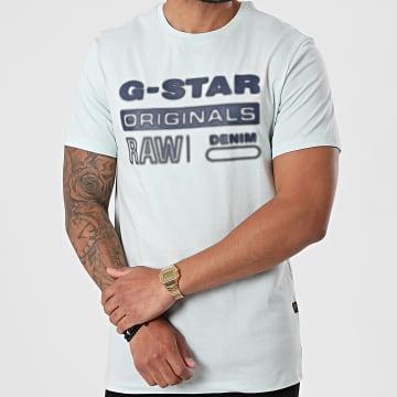 G-Star - Tee Shirt D19845-336 Bleu Clair