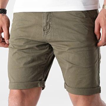 Indicode Jeans - Short Chino Conor 70-060 Vert Kaki