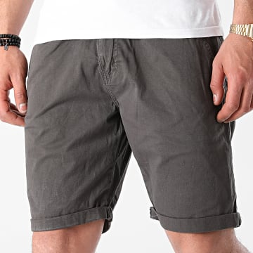 Indicode Jeans - Short Chino Conor 70-060 Gris Anthracite