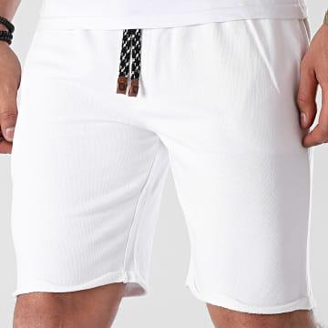 Indicode Jeans - Short Jogging Aldrich 70-043 Blanc