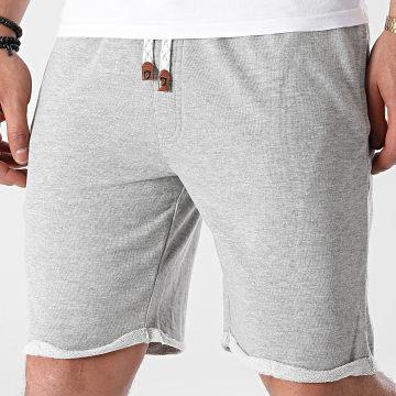 Indicode Jeans - Short Jogging Aldrich 70-043 Gris Chiné