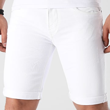 Indicode Jeans - Short Jean Kaden 70-100 Blanc