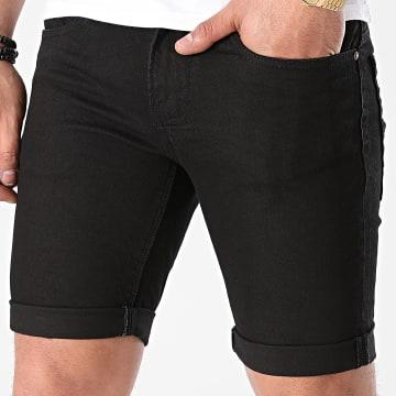 Indicode Jeans - Short Jean Noir