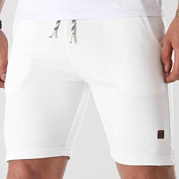 Indicode Jeans - Short Jogging Brennan 70-442 Blanc