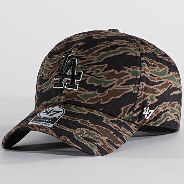 '47 Brand - Casquette MVP Adjustable DRZMV12PTP Los Ang eles Dodgers Tiger Camo Vert Kaki