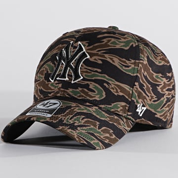 '47 Brand - Casquette MVP Adjustable DRZMV17PTP New York Yankees Tiger Camo Vert Kaki
