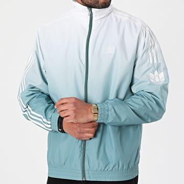 Adidas Originals - Veste Zippée A Bandes Dégradé 3D Trefoil GN3589 Vert Blanc