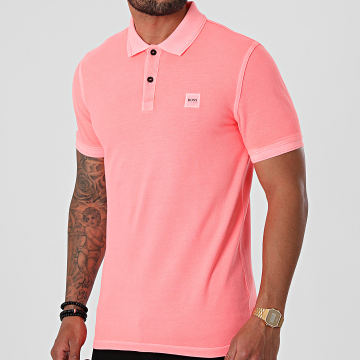 BOSS - Polo Manches Courtes 50378365 Rose Corail Fluo
