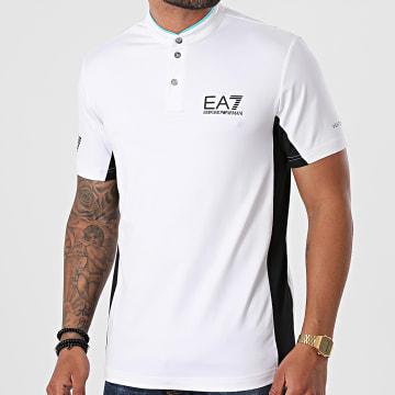 EA7 Emporio Armani - Polo Manches Courtes 3KPT52-PJ6TZ Blanc