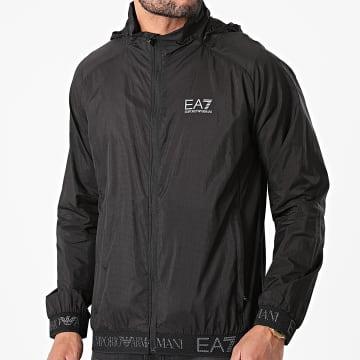 EA7 Emporio Armani - Veste Zippée Capuche 3KPB29-PN2HZ Noir