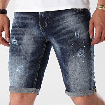 KZR - Short Jean TH37738 Bleu Denim