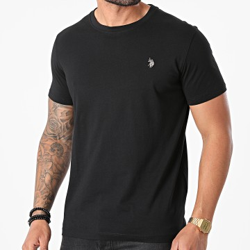 US Polo ASSN - Tee Shirt Double Horse Logo Noir