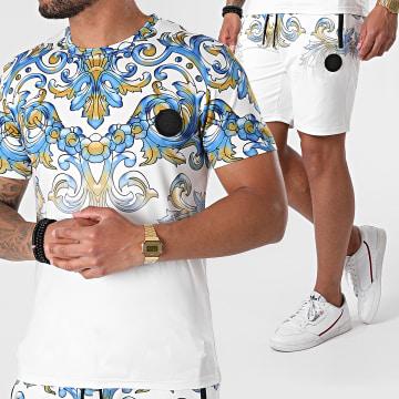 Zelys Paris - Ensemble Tee Shirt Short Jogging Renaissance Denzel Blanc