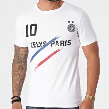 Zelys Paris - Tee Shirt Oblue Blanc