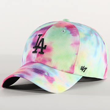 '47 Brand - Casquette Clean Up MF Adjustable TDCMF12PTW Los Angeles Dodgers Rose Multi