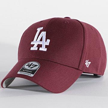 '47 Brand - Casquette MVP Adjustable MVP12WBV Los Angeles Dodgers Bordeaux