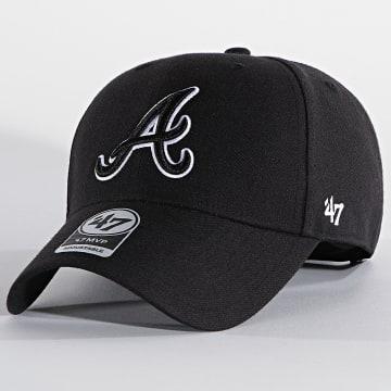 '47 Brand - Casquette MVP Adjustable MVPSP01WBP Atlanta Braves Noir