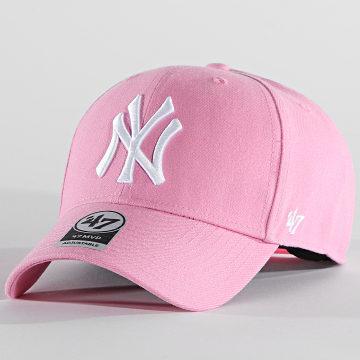 '47 Brand - Casquette MVP Adjustable MVPSP17WBP New York Yankees Rose