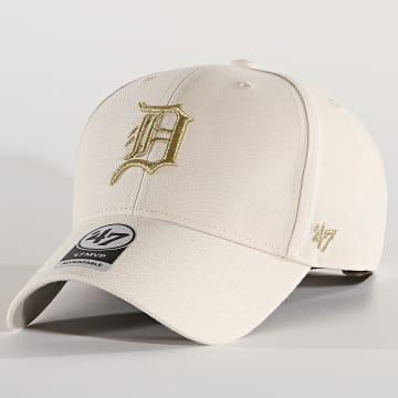 '47 Brand - Casquette MVP Adjustable MTLCS09WBP Detroit Tigers Beige Doré
