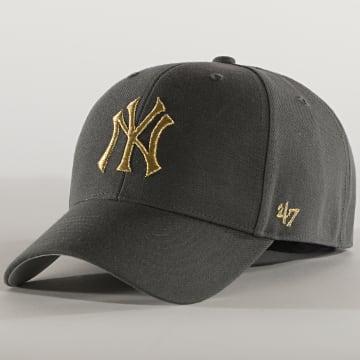 '47 Brand - Casquette MVP Adjustable MTLCS17WBP New York Yankees Gris Doré