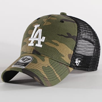'47 Brand - Casquette Trucker MVP Adjustable CBRAN12GWP Los Angeles Dodgers Camo Vert Kaki