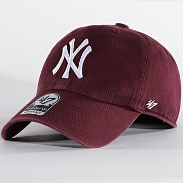 '47 Brand - Casquette Clean Up Adjustable RGW17GWS New York Yankees Bordeaux