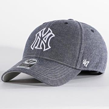 '47 Brand - Casquette MVP Adjustable EMERM17HVP New York Yankees Bleu Denim
