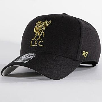 '47 Brand - Casquette MVP Adjustable MTLCS04WBP Liverpool FC Noir Doré