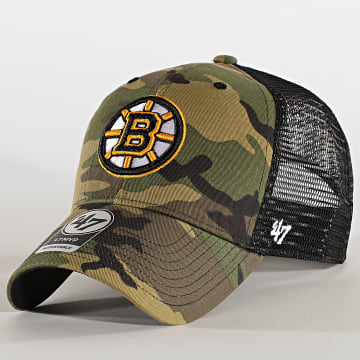 '47 Brand - Casquette Trucker MVP Adjustable CBRAN01GWP Boston Bruins Camo Vert Kaki
