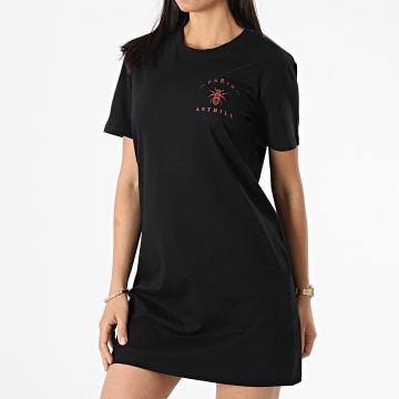 Anthill - Robe Tee Shirt Femme Chest Logo Noir Rouge