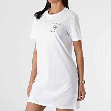Anthill - Robe Tee Shirt Femme Chest Logo Blanc