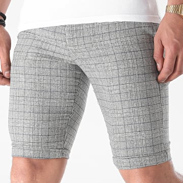 Armita - Short Chino A Carreaux CPR-451 Gris Chiné