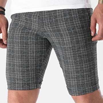 Armita - Short Chino A Carreaux CPR-452 Gris Anthracite