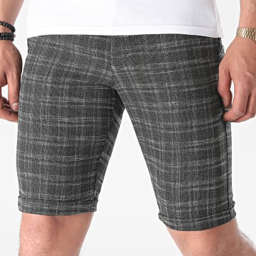 Armita - Short Chino A Carreaux CPR-451 Gris Anthracite