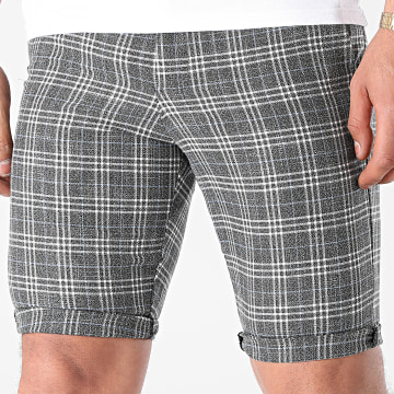 Armita - Short A Carreaux CPR-453 Gris