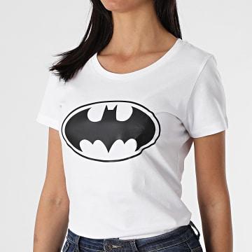 Batman - Tee Shirt Femme Big Logo Blanc Noir