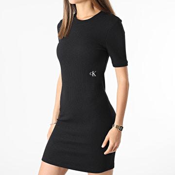 Calvin Klein - Robe Femme Slub Rib 5679 Noir
