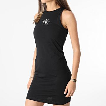 Calvin Klein - Robe Débardeur Femme Monogram 6579 Noir
