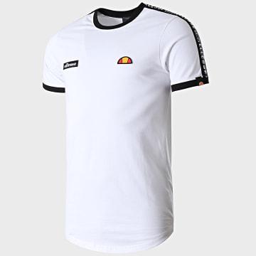 Ellesse - Tee Shirt Oversize A Bandes Fede SLB05907 Blanc