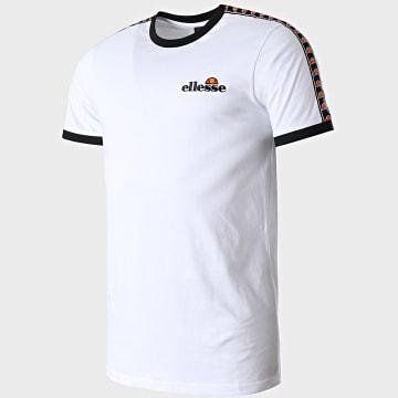 Ellesse - Tee Shirt A Bandes Judo SLB10139 Blanc