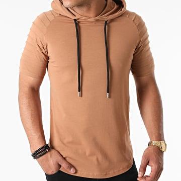 LBO - Tee Shirt Capuche Oversize 1623 Camel