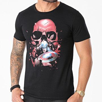 Captain America - Tee Shirt MEMARCOTS105 Noir