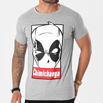 Deadpool - Tee Shirt MEPOOLXTS073 Gris Chiné