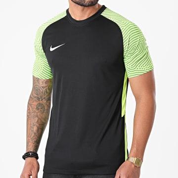 Nike - Tee Shirt De Sport Jersey Strike II Noir Jaune Fluo